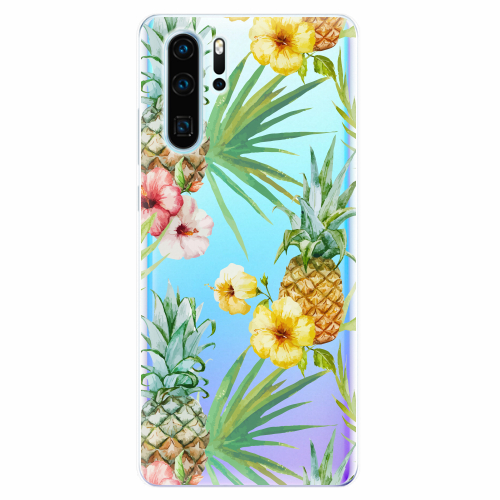 Silikonové pouzdro iSaprio - Pineapple Pattern 02 - Huawei P30 Pro
