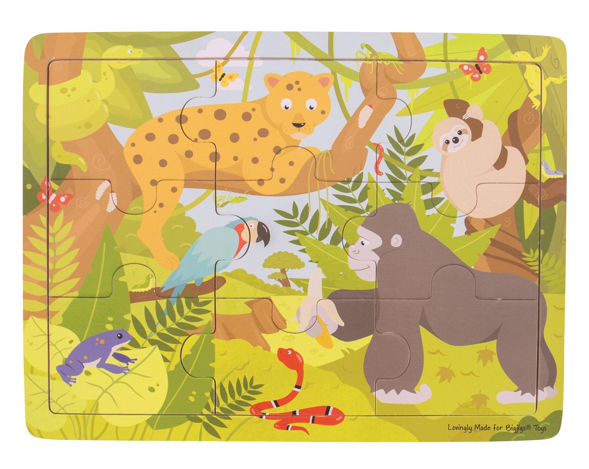Bigjigs Toys Dřevěné puzzle jungle