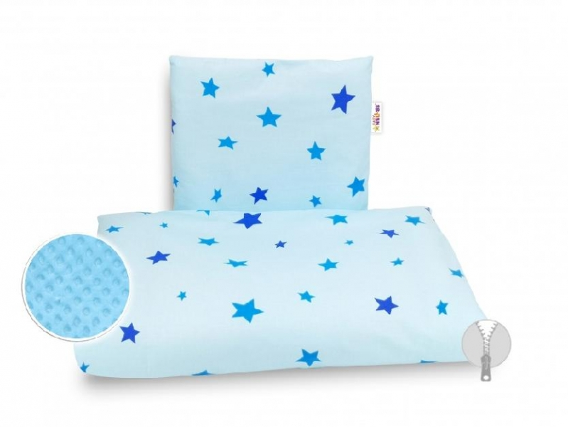 4-dilna-sada-do-kocarku-minky-baby-nellys-hvezdicky-modre