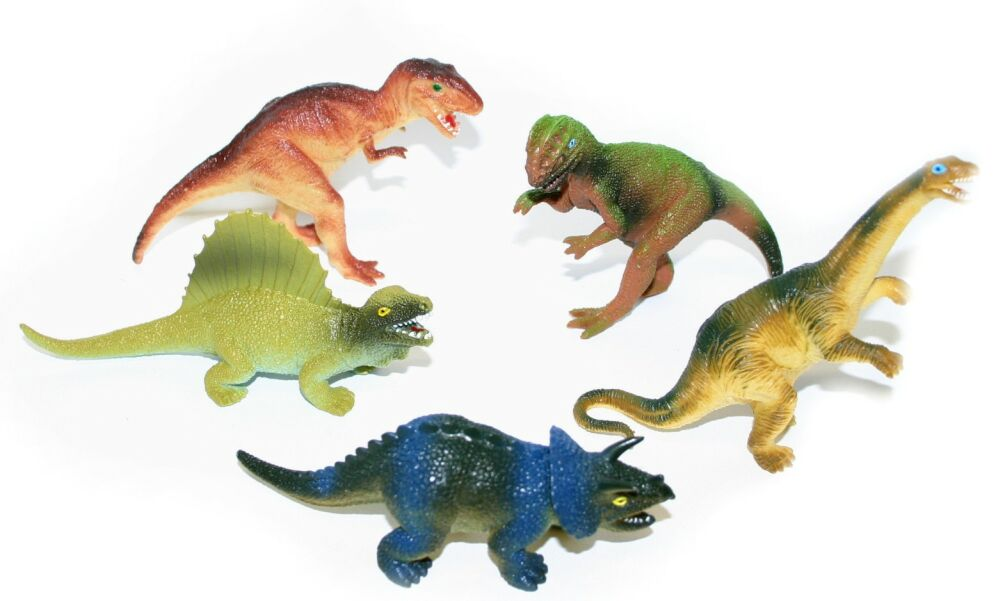 Dinosauři větší sada zvířátko plastové pravěkké 5ks v sáčku