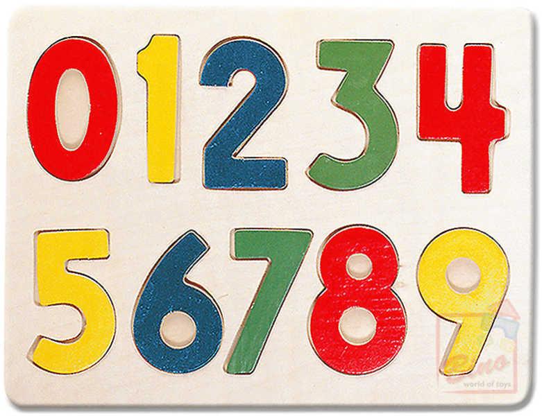 BINO DŘEVO Puzzle Číslice * DŘEVĚNÉ HRAČKY *