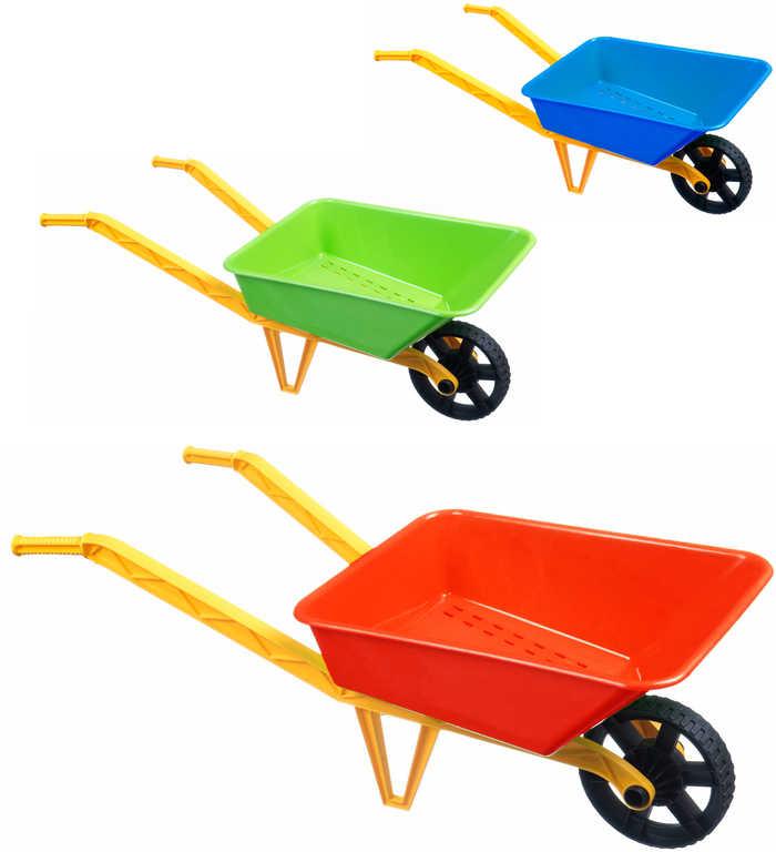 Kolečko (kolečka) 70cm dětské klasické plastové na písek 3 barvy