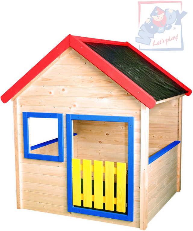 WOODY DŘEVO Domeček zahradní dětský hrací 140x153x123cm smrkové dřevo natur