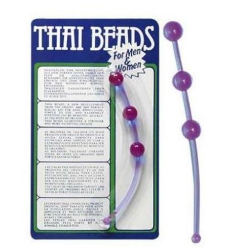 Gelové anální kuličky - Thai beads