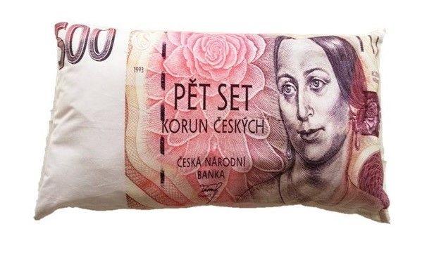 Dekorační polštář bankovka - 500 Kč