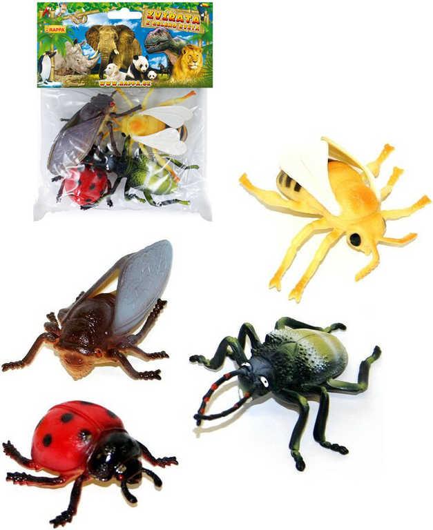 Hmyz insekt set 4ks v sáčku 6-12cm guma