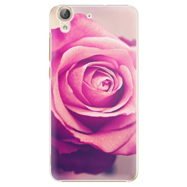 Plastové pouzdro iSaprio - Pink Rose - Huawei Y6 II