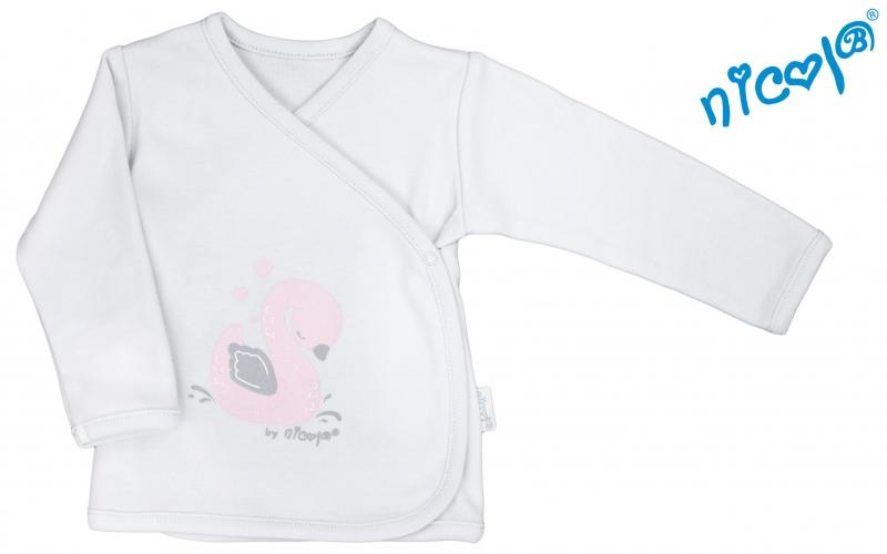 Novorozenecká košilka Nicol, Baletka - zapínání bokem