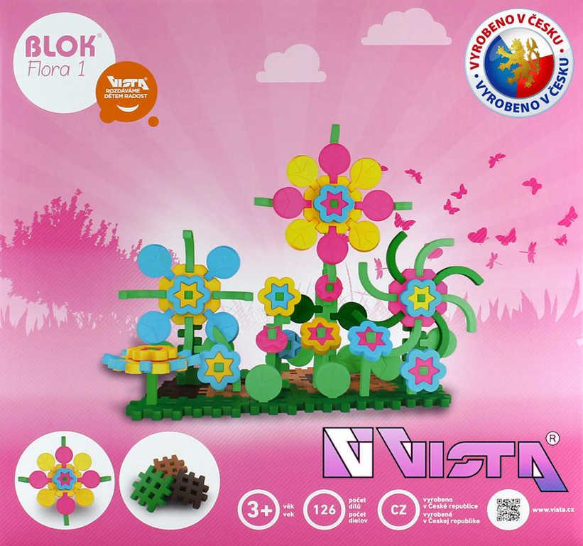 SEVA BLOK FLORA 1 plastová STAVEBNICE 126 dílků