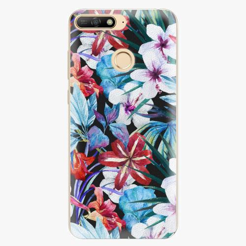 Silikonové pouzdro iSaprio - Tropical Flowers 05 - Huawei Y6 Prime 2018