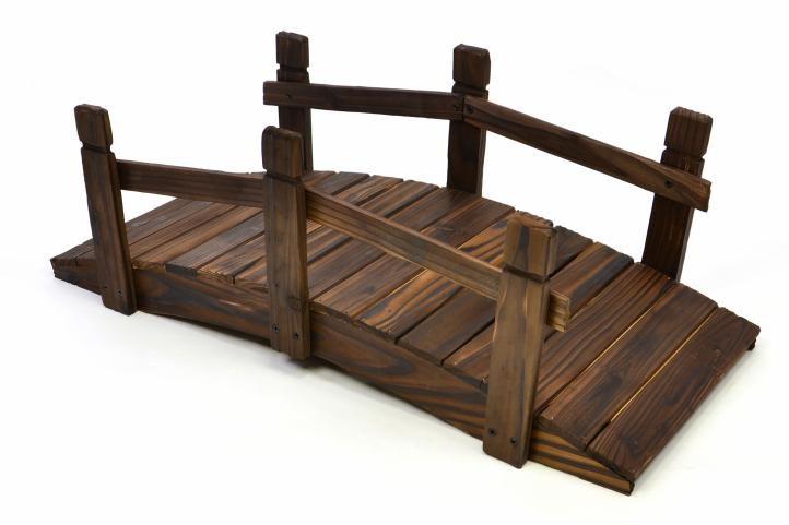 Dřevěný můstek Garth 70 x 32 x 25 cm