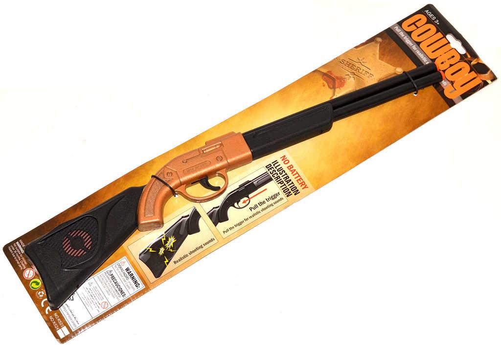 Puška dětská klapací 50cm lovecká plast na kartě