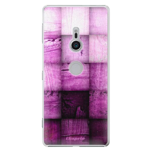 Plastové pouzdro iSaprio - Purple Squares - Sony Xperia XZ2