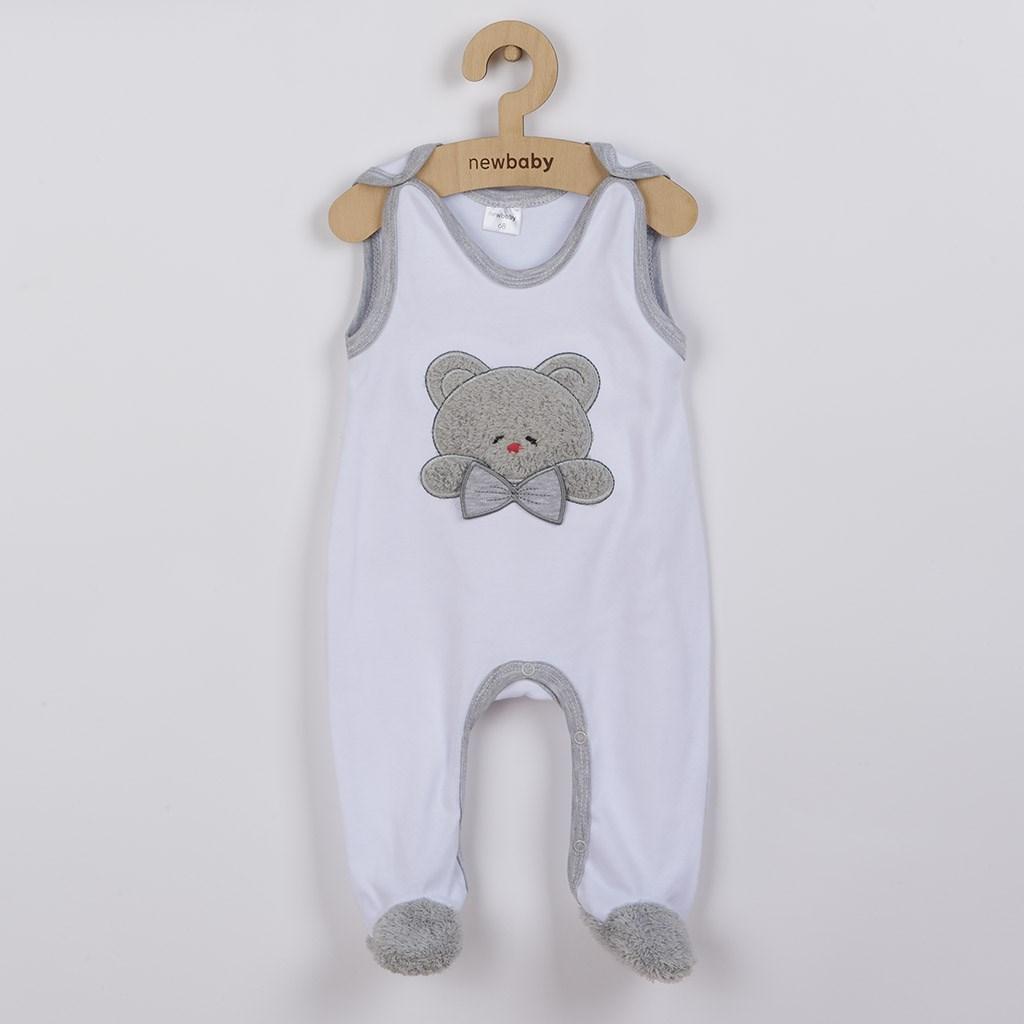 Luxusní kojenecké dupačky New Baby Honey Bear s 3D aplikací - bílá/68 (4-6m)