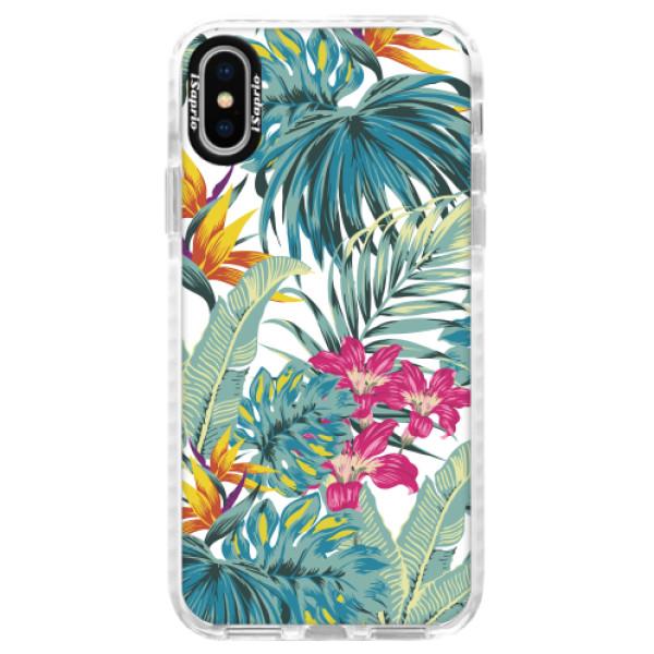 Silikonové pouzdro Bumper iSaprio - Tropical White 03 - iPhone X