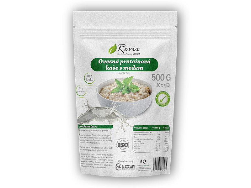 Ovesná proteinová kaše s medem 500g-natural