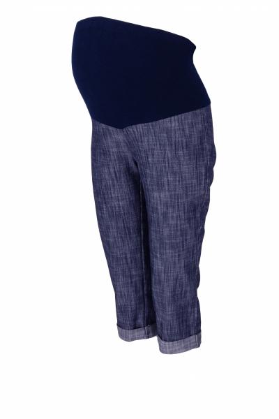 Těhotenské 3/4 kalhoty s elastickým pásem