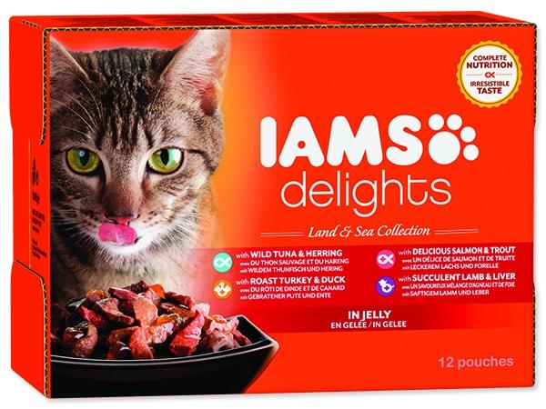 Kapsičky IAMS Cat výběr z mořských a suchozemských mas v želé multipack 1020g