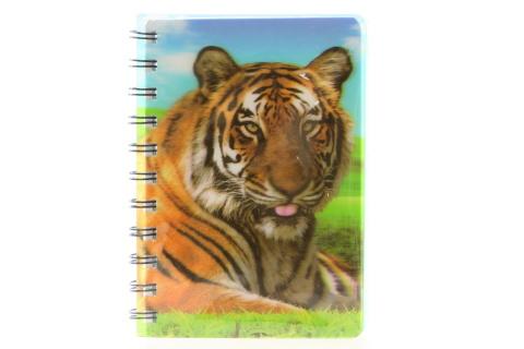 Zápisník A6 tygr 3D