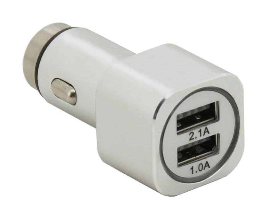 Kovový adaptér na nabíjení - 2 x USB
