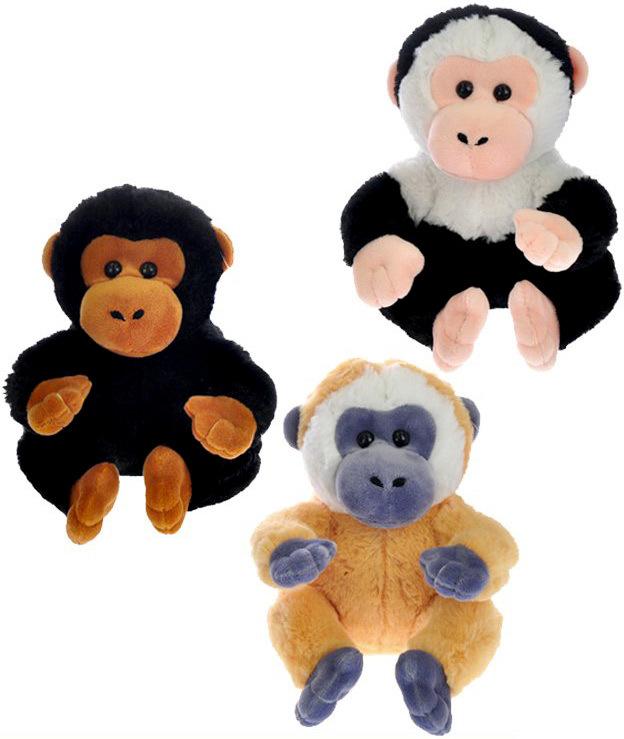 PLYŠ Opice sedící 16 cm - 3 barvy