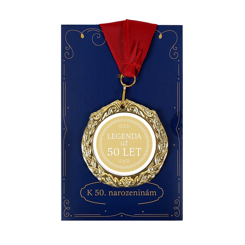 Přání s medailí - 50 let
