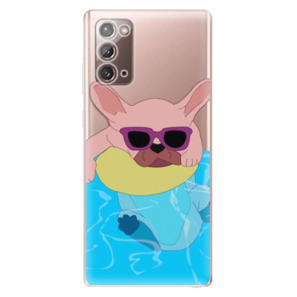 Odolné silikonové pouzdro iSaprio - Swimming Dog - Samsung Galaxy Note 20