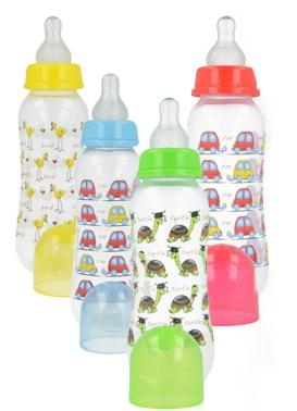 Plastová lahvička s obrázkem 250 ml - mix vzorů - 1ks