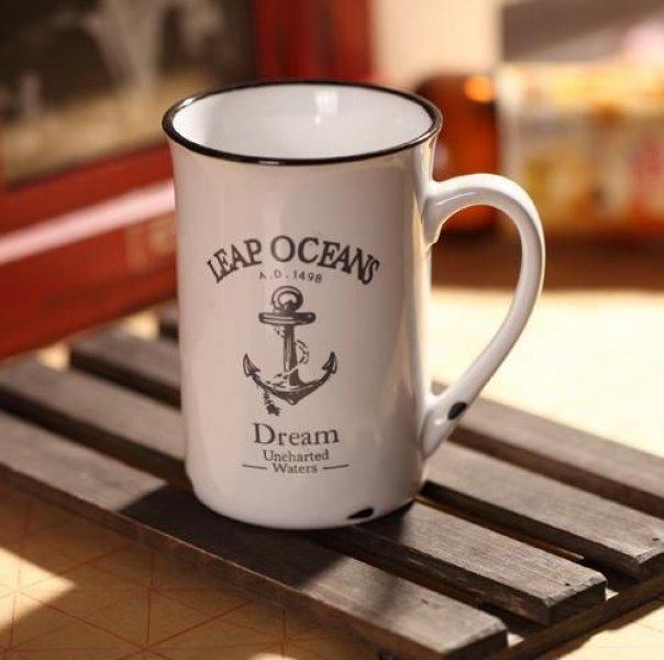 Porcelánový retro hrneček - Oceán