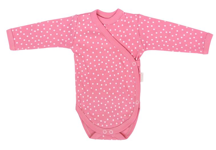mamatti-kojenecke-body-dl-rukav-zapinani-bokem-princezna-puntik-ruzove-50-0-1m