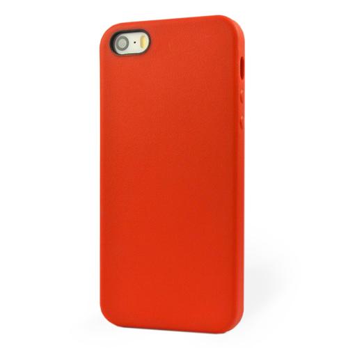 Pružný kryt iSaprio Jelly pro iPhone 5 / 5S červený