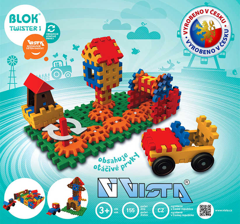 VISTA BLOK Twister 1 plastová STAVEBNICE 155 dílků