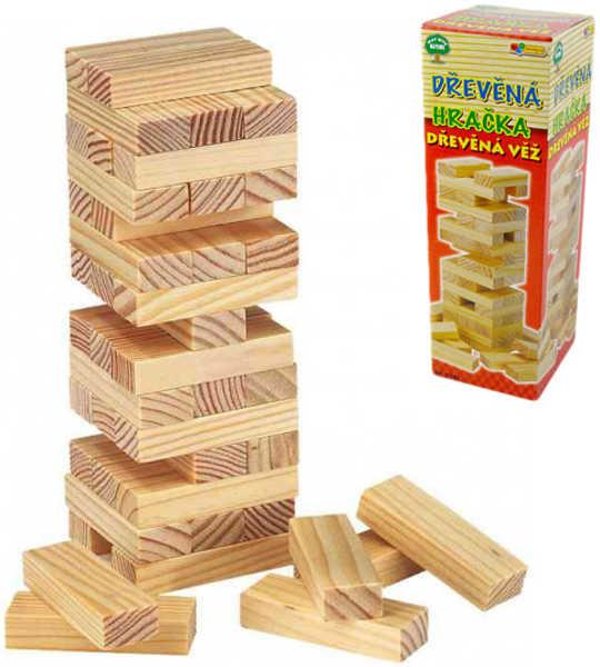 DŘEVO Hra věž velká JENGA * DŘEVĚNÉ HRAČKY *