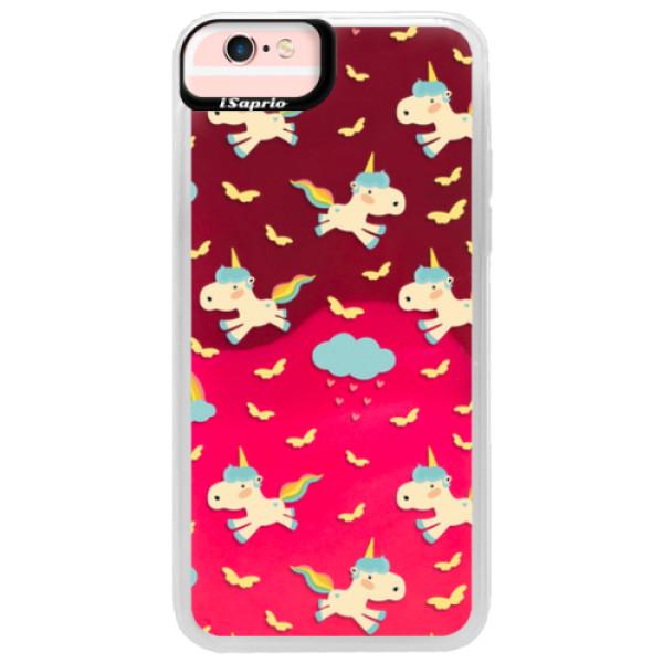 Neonové pouzdro Pink iSaprio - Unicorn pattern 01 - iPhone 6/6S