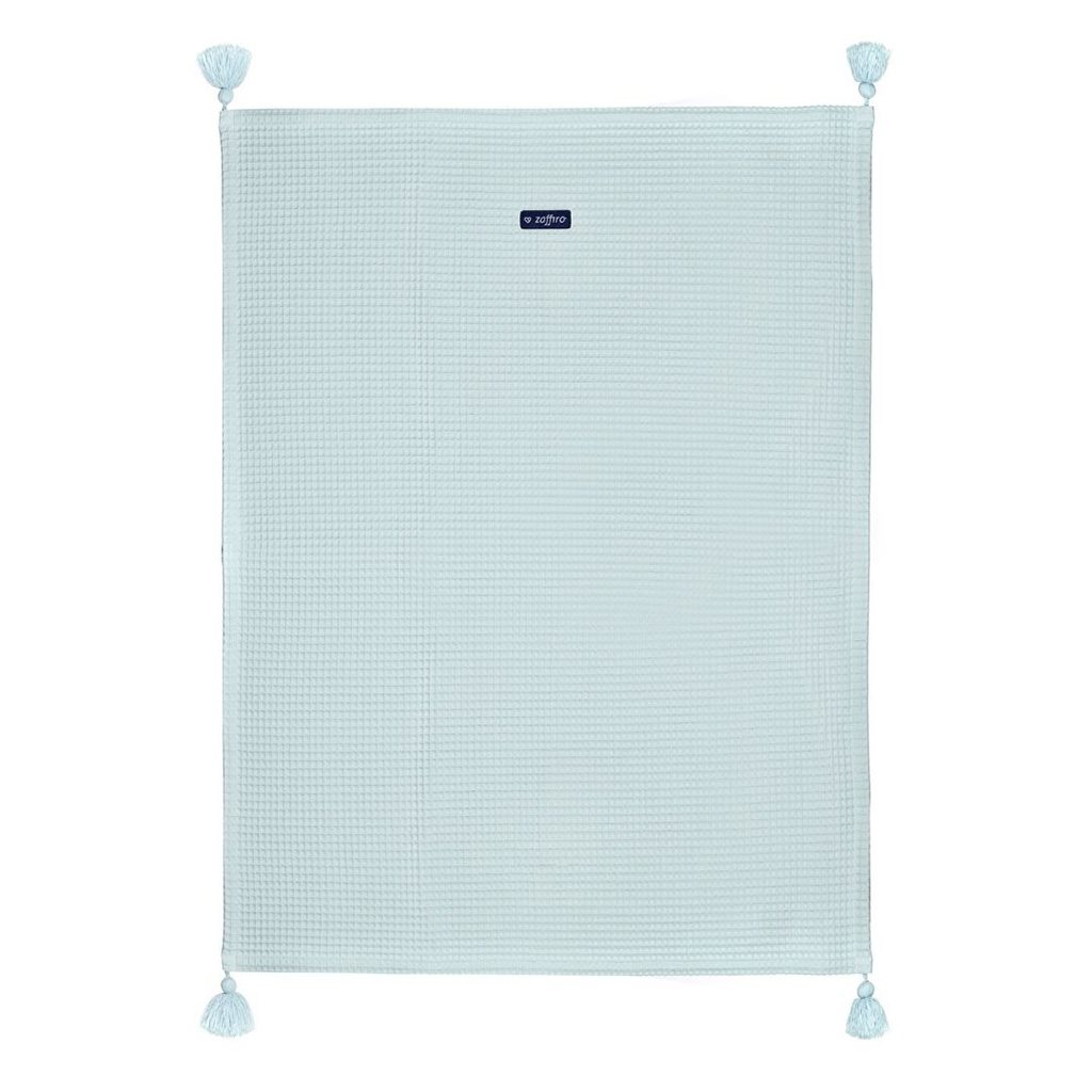 Dětská bavlněná deka vafle Womar 75x100 mátová - zelená