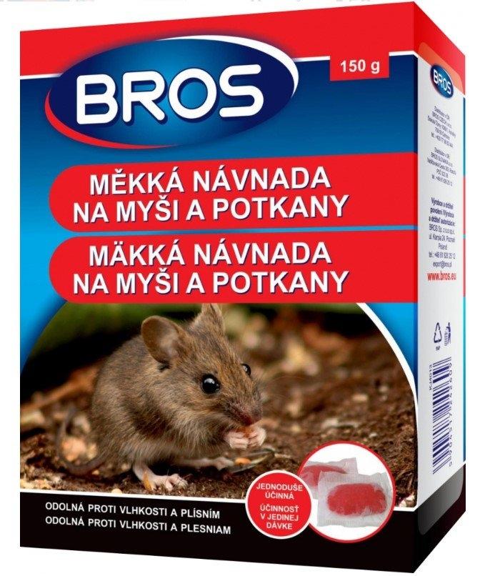 Měkká návnada proti myším, krysám a potkanům, 150 g