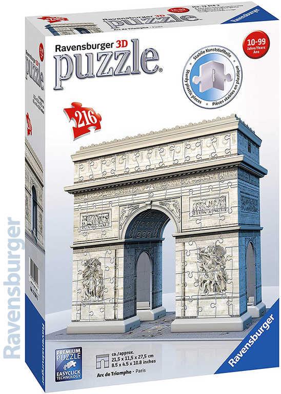 RAVENSBURGER Puzzle 3D model Vítězný Oblouk 216 dílků skládačka v krabici