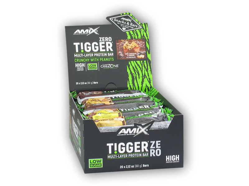 20x Tigger Zero Multi Layer Protein Bar 60g