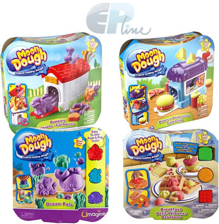 EP Line Moon Dough standard extra lehká modelína set s formičkami a doplňky 4 druhy