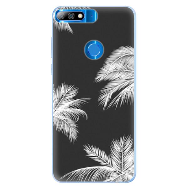 Silikonové pouzdro iSaprio - White Palm - Huawei Y7 Prime 2018