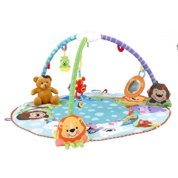 Hrací deka s melodií - Zvířátka/medvídek