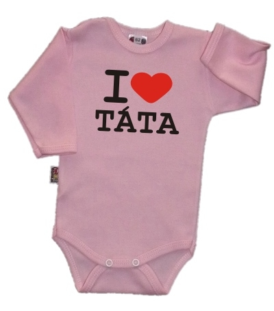Bavlněné body I LOVE TATA růžové
