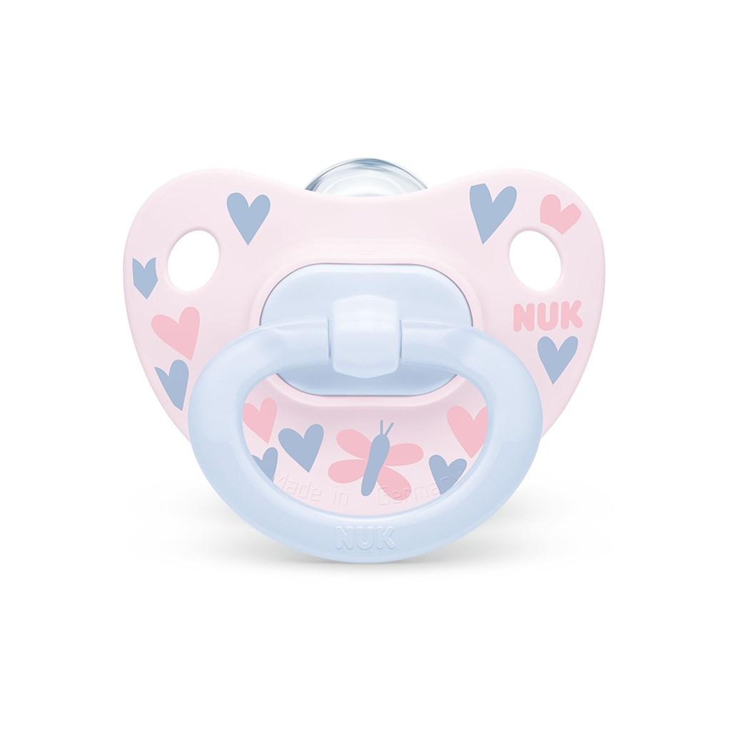 Šidítko NUK Happy Days 0-6m růžovo-modrý BOX - růžová/0-6 m