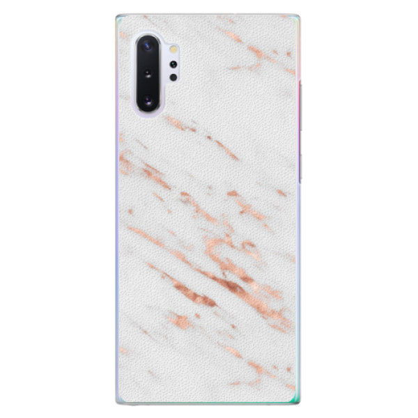 Plastové pouzdro iSaprio - Rose Gold Marble - Samsung Galaxy Note 10+