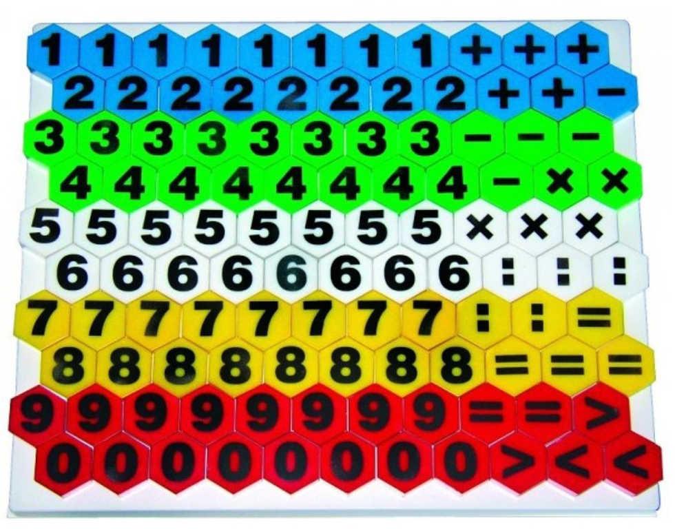 VISTA Mosaic Maxi 2 Počty Stavebnice mozaiková 110 dílků v krabici plast