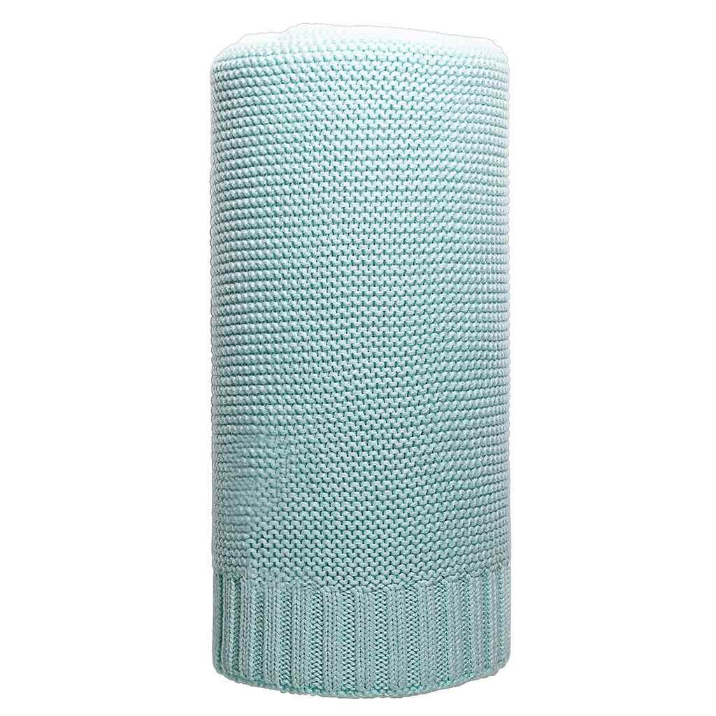 Bambusová pletená deka NEW BABY 100x80 cm mátová - zelená