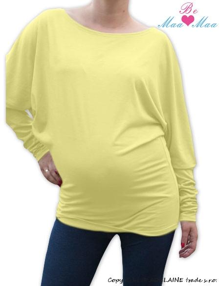 Symetrická těhotenská tunika - žlutá