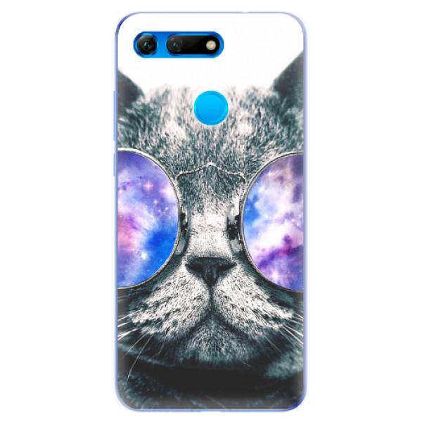 Odolné silikonové pouzdro iSaprio - Galaxy Cat - Huawei Honor View 20