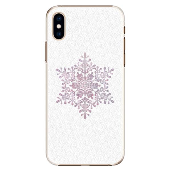 Plastové pouzdro iSaprio - Snow Flake - iPhone XS