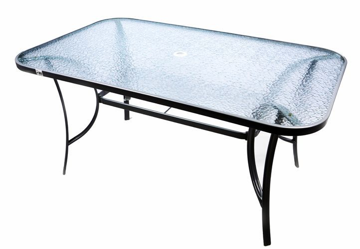 Moderní zahradní skleněný stůl Garth